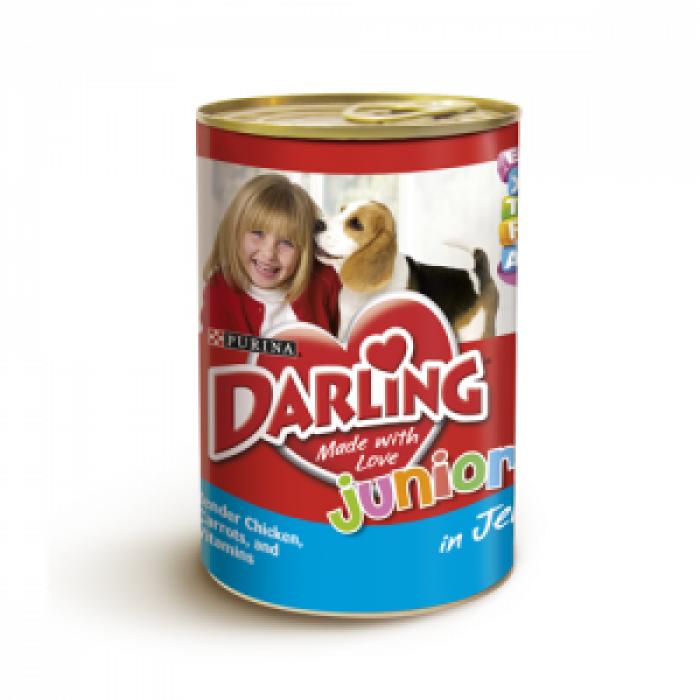 Консерва за кученца DARLING JUNIOR с пиле 400 гр.