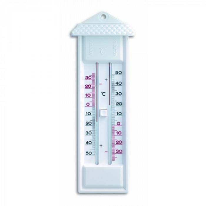 Термометър мин-макс с бутон за изчистване / бял