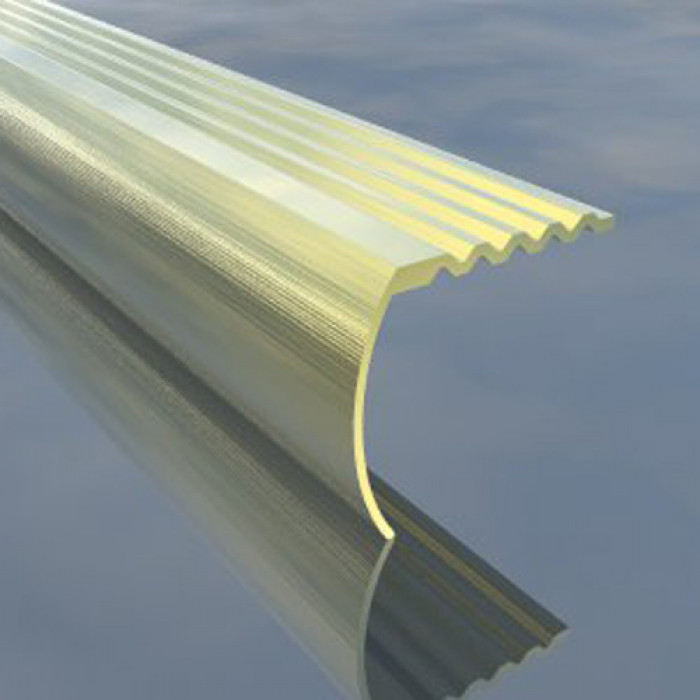 Г-образна алуминиева лайсна 33/30мм сребро 2.7 метра