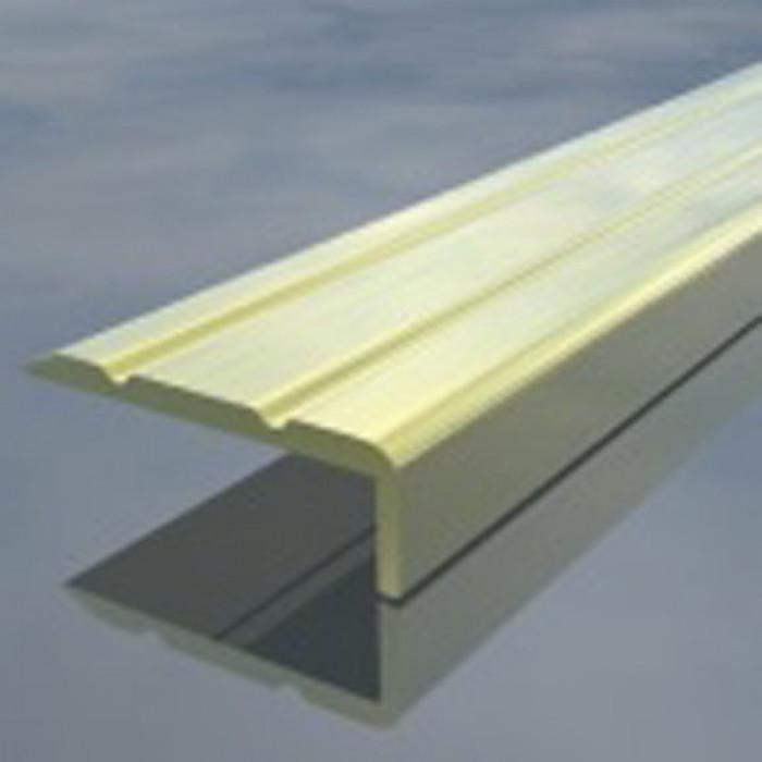 Г-образна алуминиева лайсна 24/10мм бронз 2.7 метра