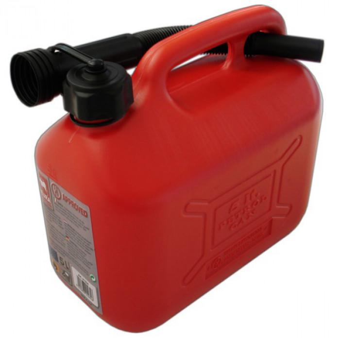 Туба за бензин пластмасова 5 литра