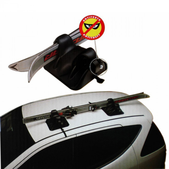 Магнитен багажник за ски с ключ