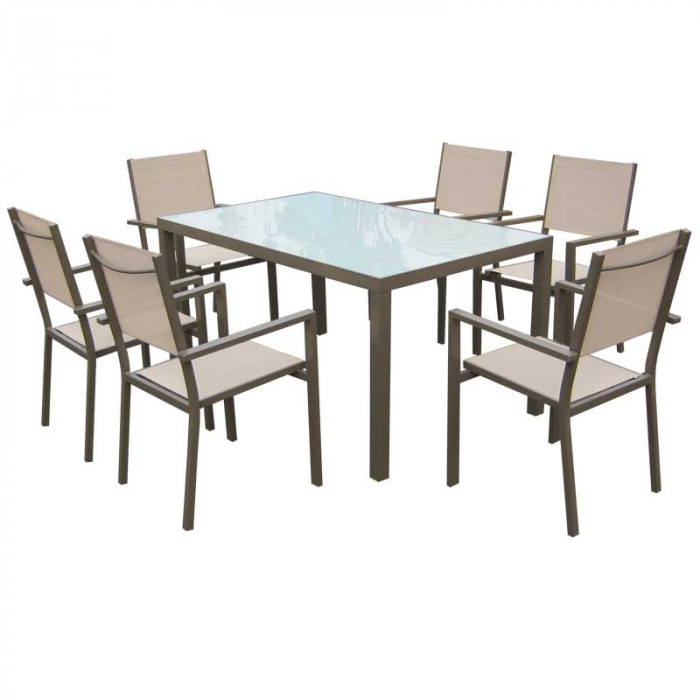 Градински комплект с 6 стола и маса