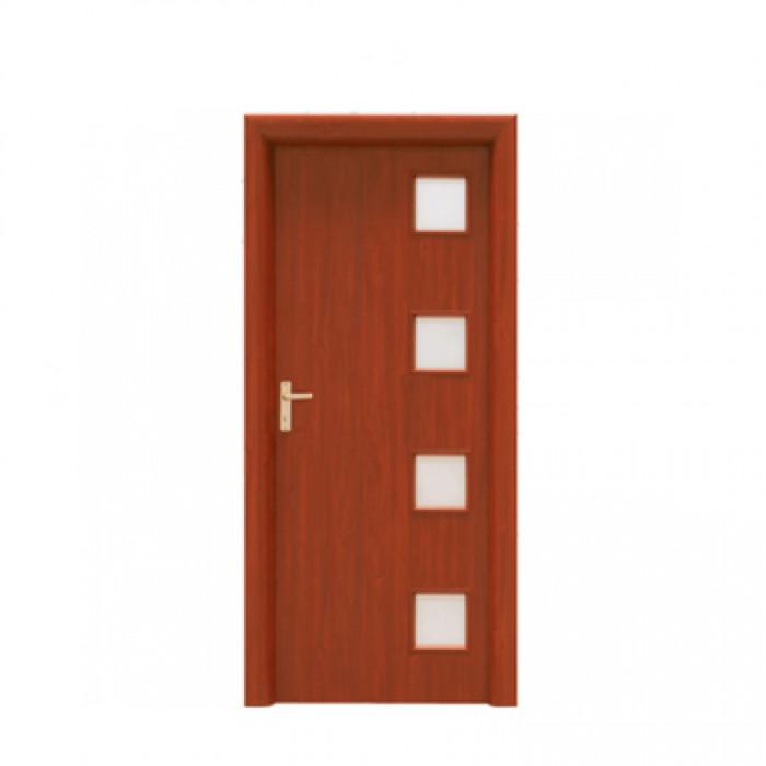 Интериорна врата 90x200 Златен дъб със стъкло