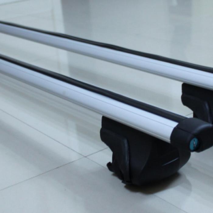 Алуминиеви напречни греди със заключване 120 см / комплект 2 броя / за автомобил