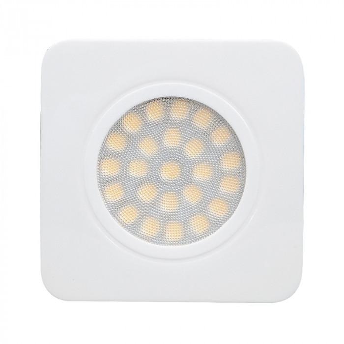 Мебелна LED луничка за вграждане, квадрат, 3W