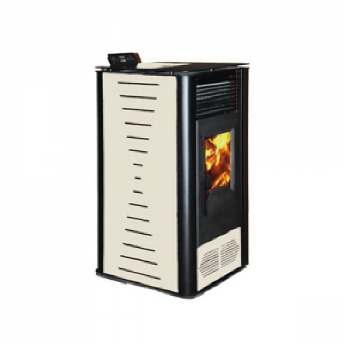 Пелетна Камина PD 10KW без водна риза - бяла