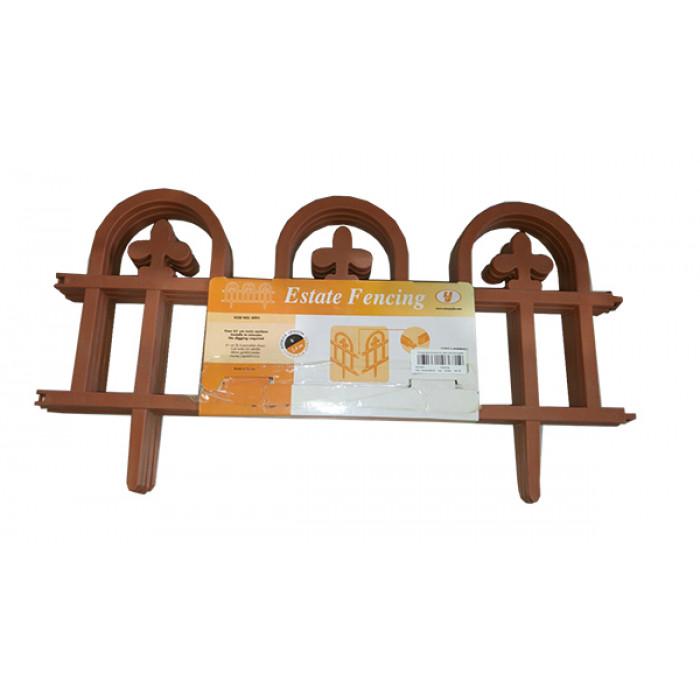 Декоративна ограда SA 4991 кафява 4x61см