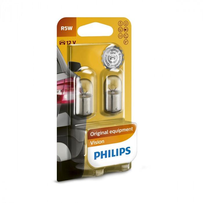 Сигнални крушки Philips 12V R5W блистер