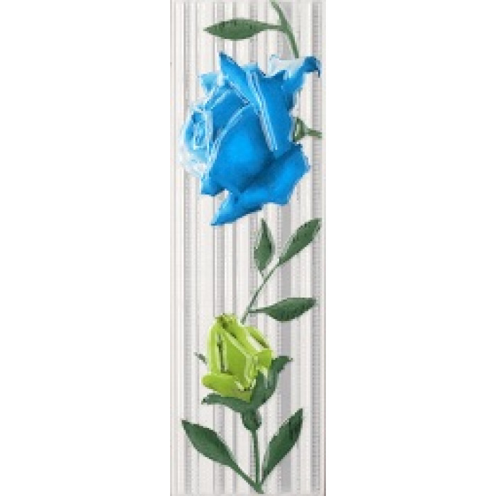 Плочки за стенна декорация / фриз 75 x 250 Амира комфорт сини