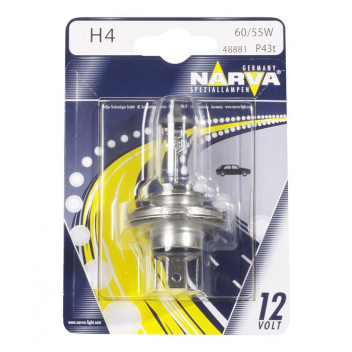 Халогенна крушка за фар Narva H4 12V 60/55W P43t