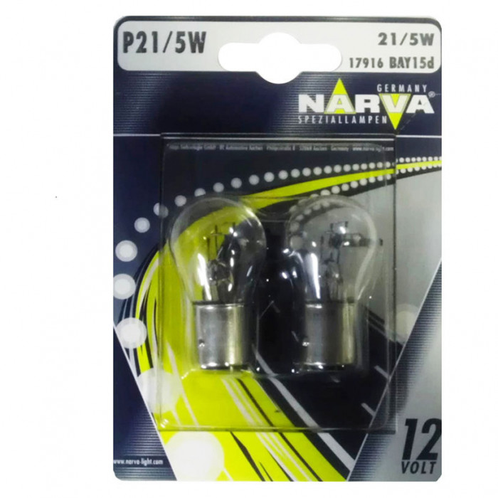 Крушки Narva P21/5W 12V 21/5W bay15d блистер