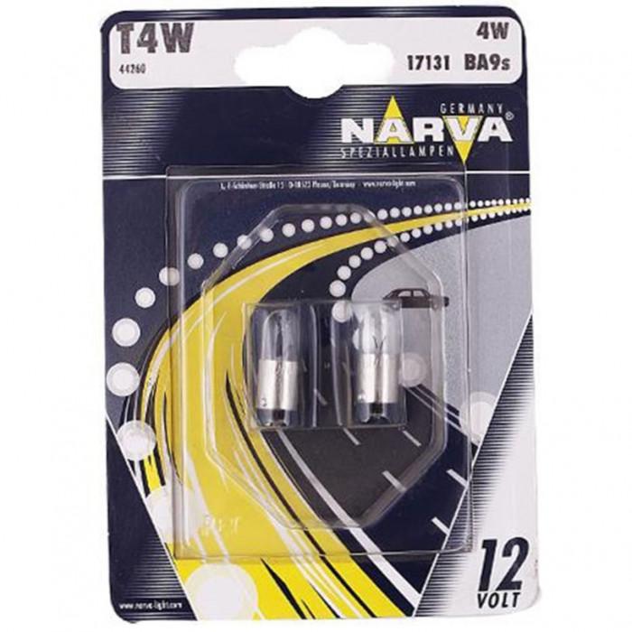 Крушки Narva T4W 12V 4W ba9s. блистер