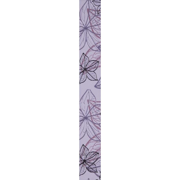 Стенни декоративни плочки фриз IJ Изола цветя 60x500мм лилави