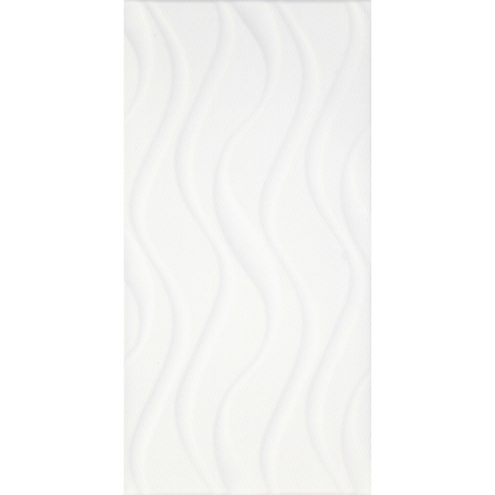 Стенни фаянсови плочки IJ 250 x 500 Изола вълни бели