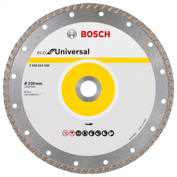 Диамантен диск за рязане Bosch Turbo Eco Universal 230мм