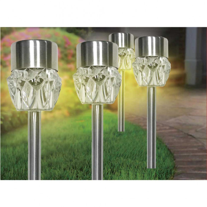Соларна лампа за градина с променящи се цветове SS-6036 метал
