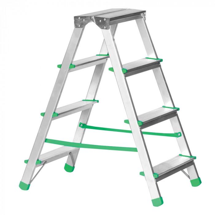 Алуминиева домакинска стълба Eurostil двустранна 2х4