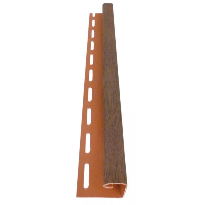 Профил за стрехи Soffit j 3m орех