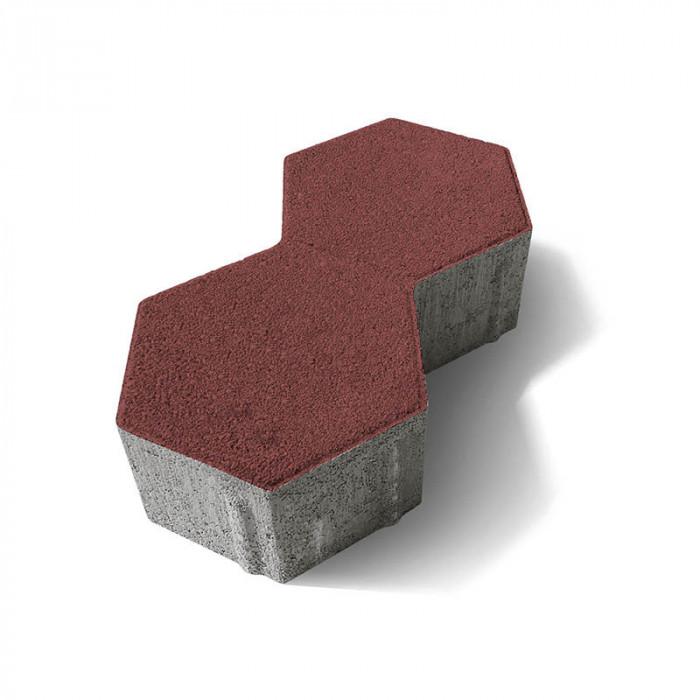 Паве двоен хексагон 6 / червен цвят