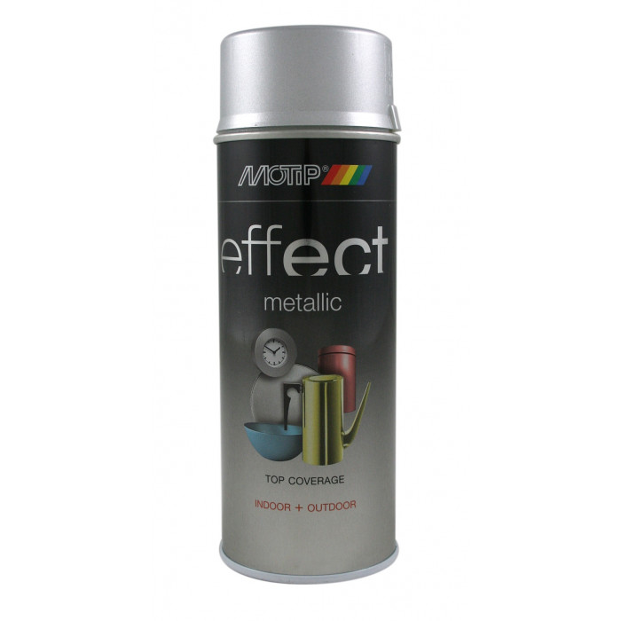 Motip сребърен ефект металик, 400ml