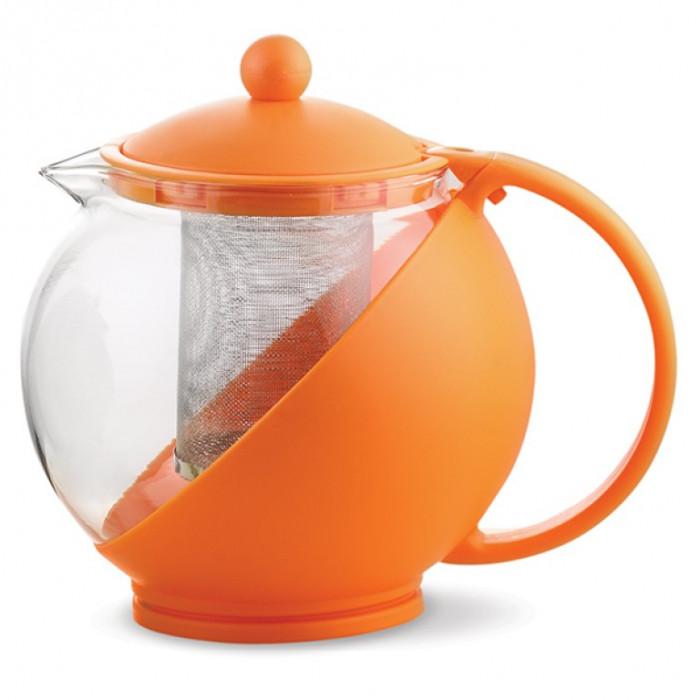 Кана с цедка за чай, 1.25L оранж