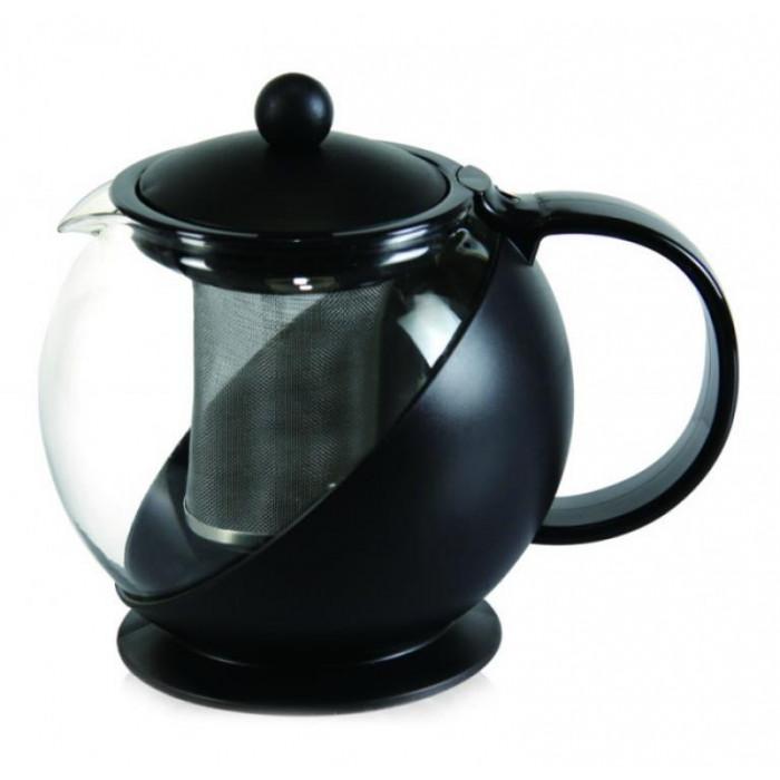 Кана за чай с цедка 1.25L черна