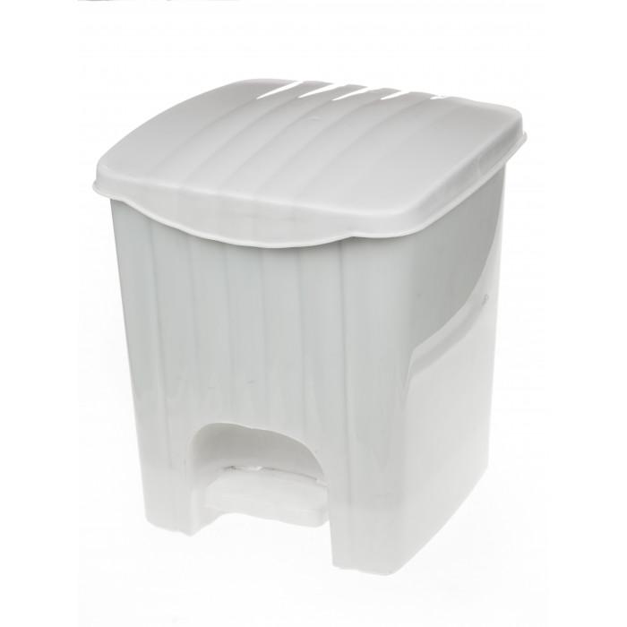 Кофа за боклук с педал / бяла