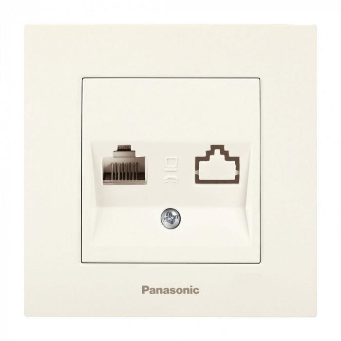 Компютърна розетка крем Panasonic Каре Плюс