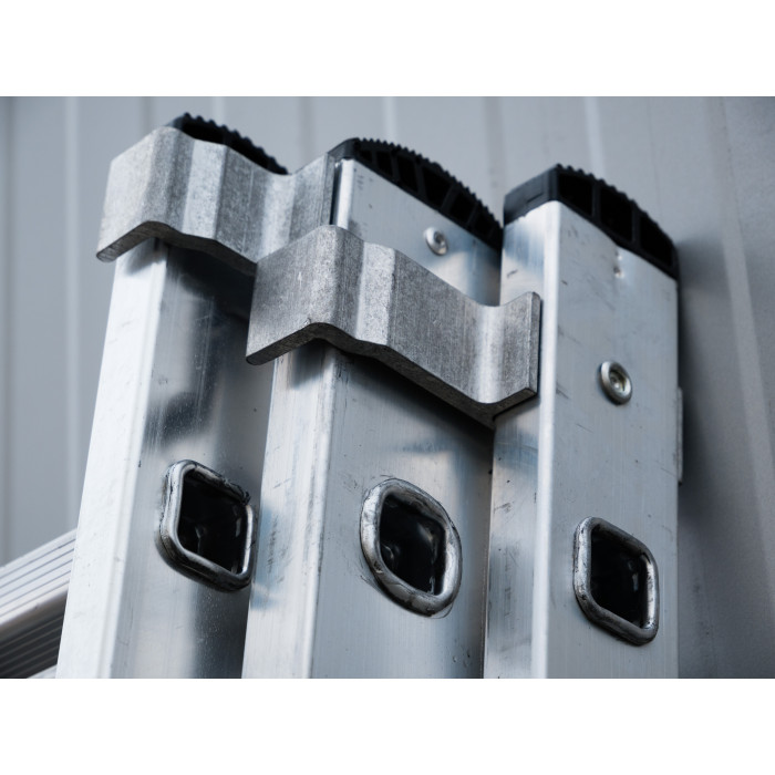 Алуминиева сертифицирана стълба NV 123 / 3x9 стъпала / 150 кг