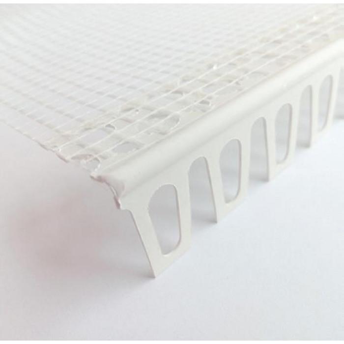 PVC ъгъл за свод с мрежа 2.5 м