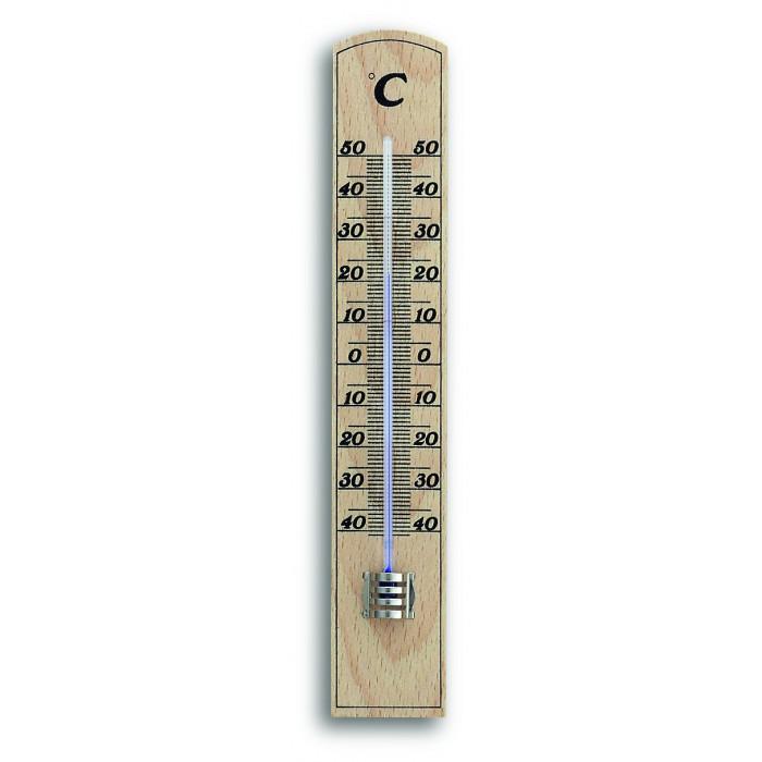 Термометър за вътрешна употреба TFA масив бук