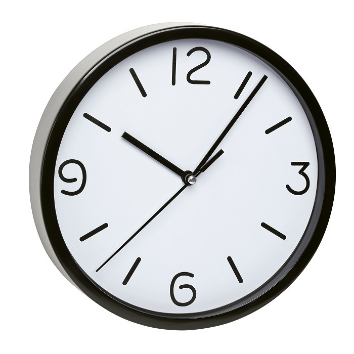 Безшумен стенен часовник TFA / черен