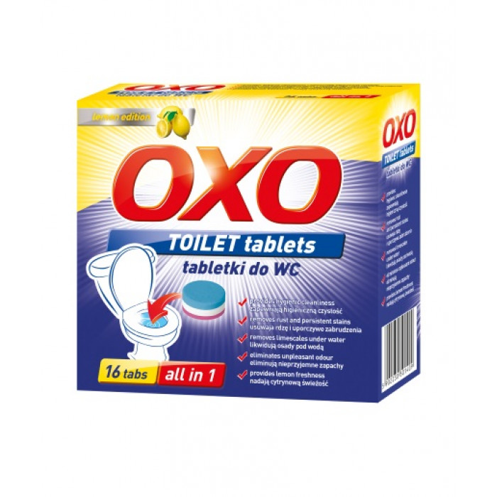 Tаблетки WC лимонов аромат 16 бр. x 25 г
