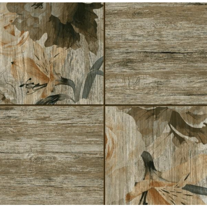 Гранитогрес 450 x 450 Nedwood Brown Decor