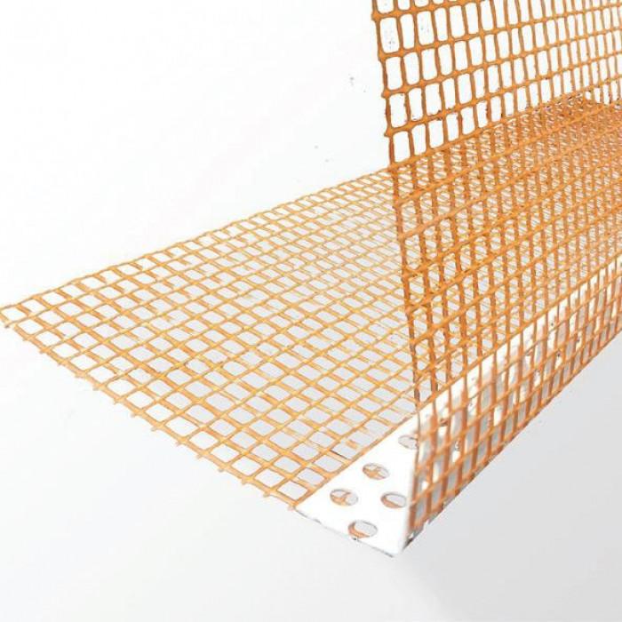 PVC ъгъл с оранжева мрежа 10Х10 / 2.5м