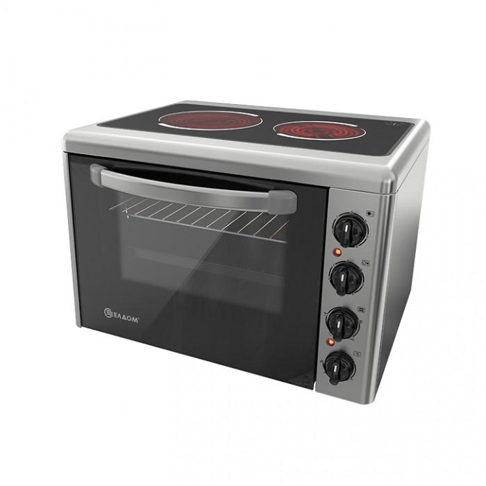 Готварска печка със стъклокерамичен плот Елдом 201VFB / 3300W 38л инокс