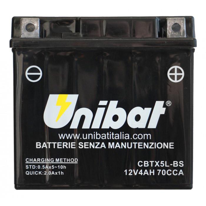 Мотоциклетен акумулатор Unibat CBTX5L-BS
