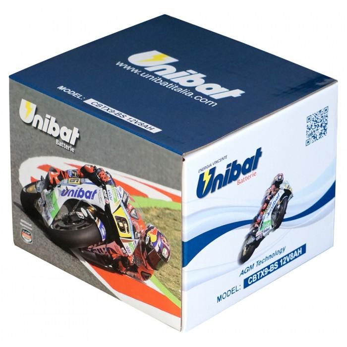 Мотоциклетен акумулатор Unibat CBTX9-BS