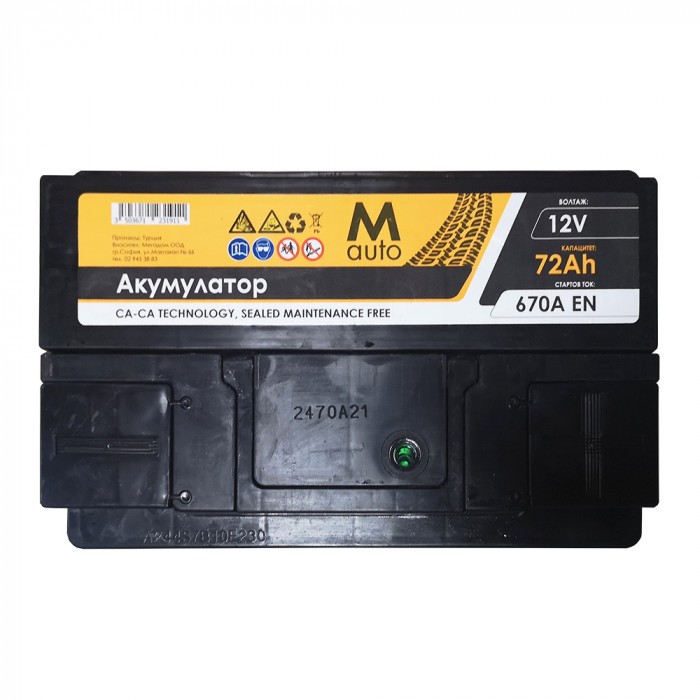 Стартерен акумулатор M Auto 72Ah