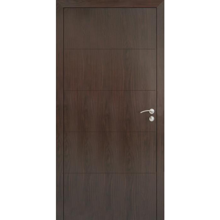 Интериорна врата 80х200 Тъмен орех плътна