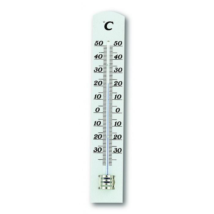 Термометър, стаен, бук, антично бял