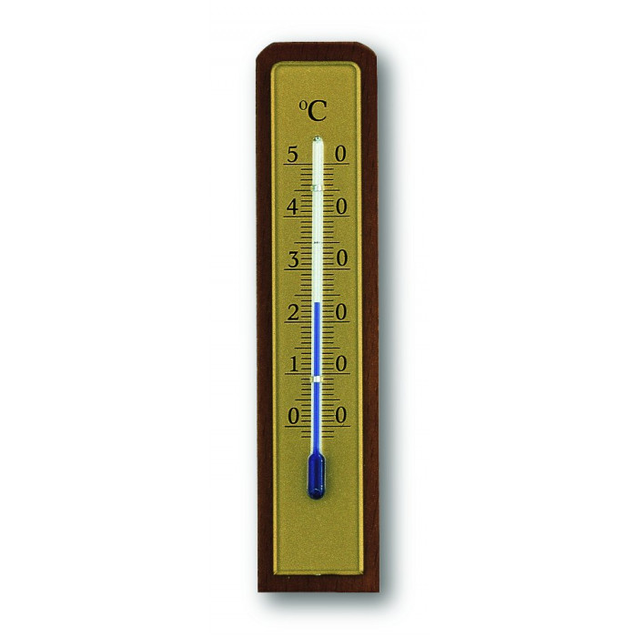 Стаен термометър -35 до +50°С 31x14x133мм орех