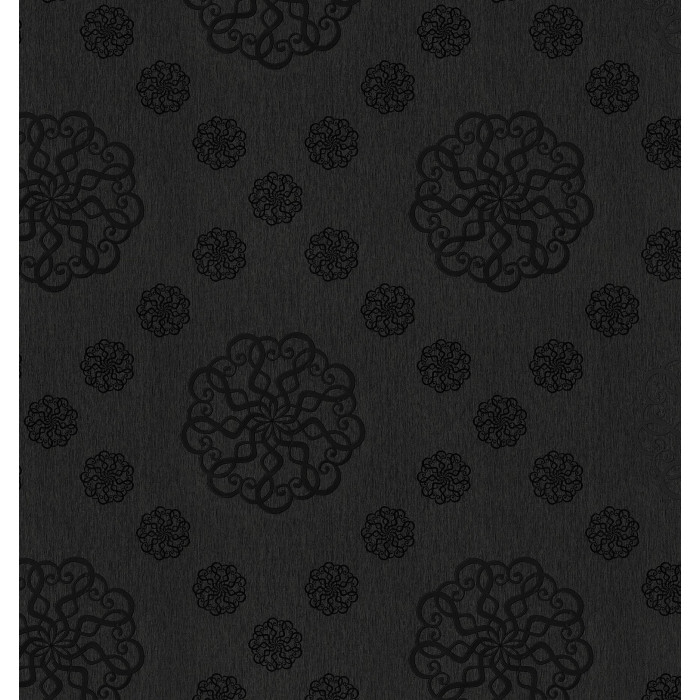 Мушама класик 541/5 черен барок 140 см
