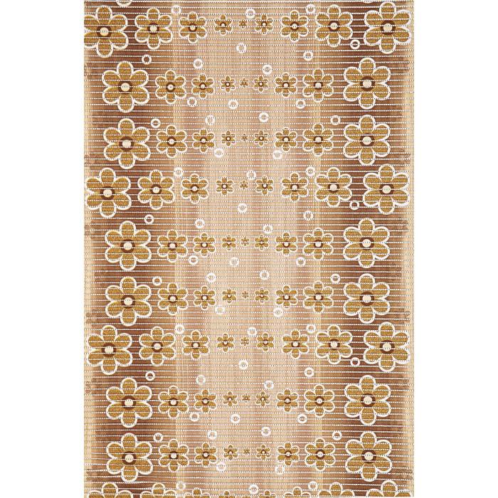 Постелка за баня 65 см 464/3 цветя беж