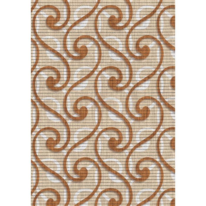 Постелка за баня 65 см 594/1 беж орнаменти