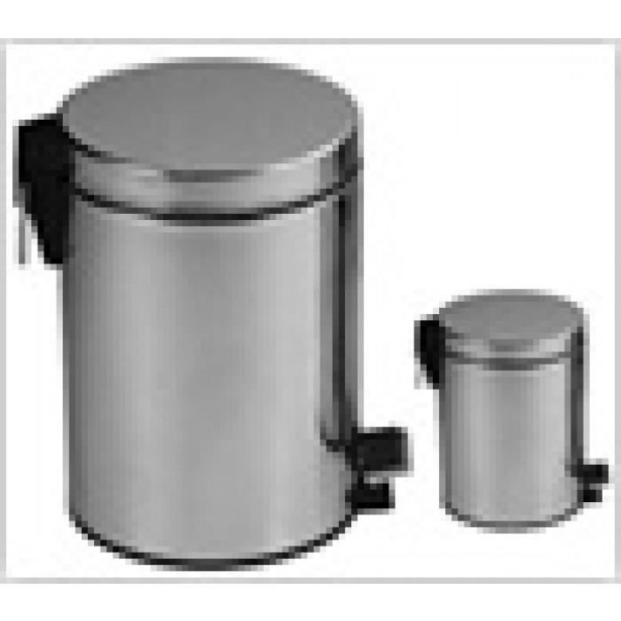 Метален кръгъл кош за боклук с педал 12л неръждаема стомана инокс DB-A