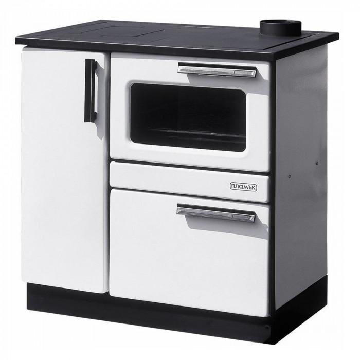 Готварска печка Пламък бял емайл 9.0 kW