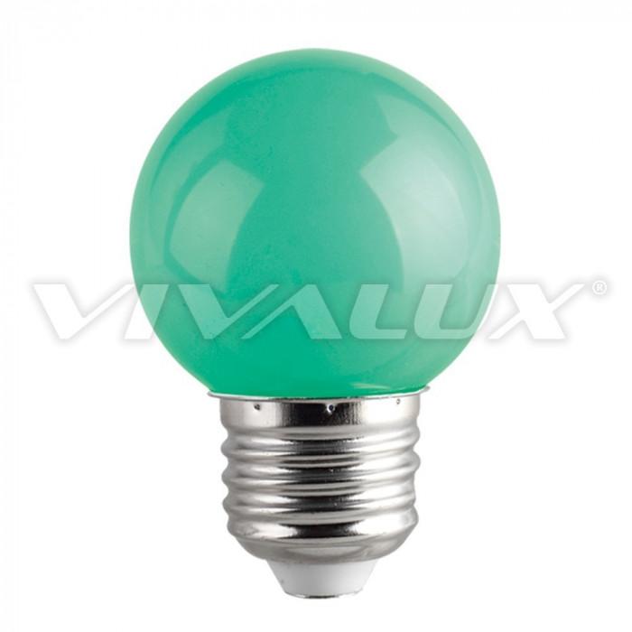 LED крушка Vivalux E27 1W зелена