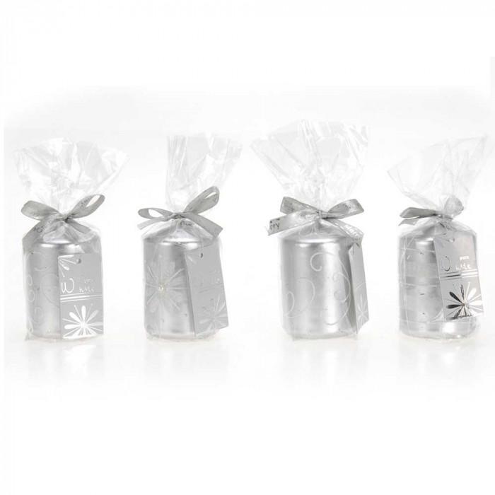 XMAS Свещ сребро 50X75мм